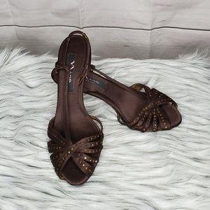 Nina New York Women's Gold Sequin Sandals 7.5